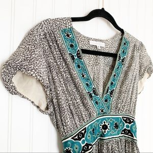 Anthropologie Tops - Corey Lynn Calter Silk Embroidered Tie Back Blouse